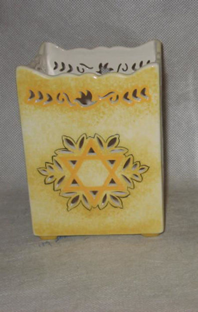 Picture of #197 Pierced Work Star of David Candleholder