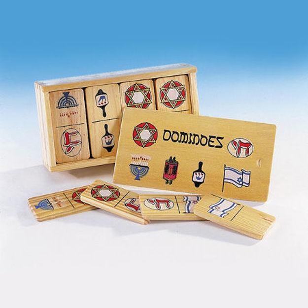 Picture of #305 Judaic Wood Dominoes
