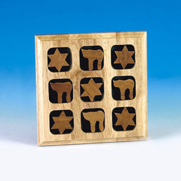 Picture of #305 Wood Tic Tac Toe