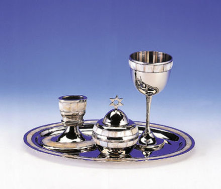 Picture of #11550 Mother of Pearl Havdallah Set