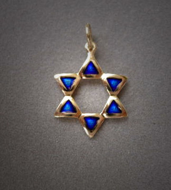 Picture of #G1025E Enamel Wash Star of David