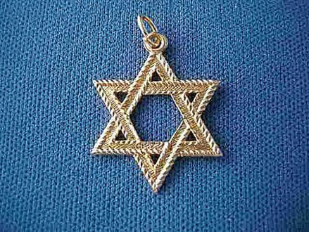 Picture of #G107 Rope Edged Star of David