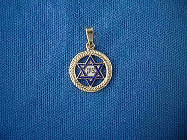 Picture of #G111 Enameled Zion Star