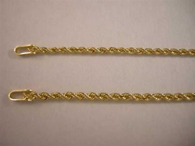 Picture of #GROPE2MM 14K Yellow Gold 2 mm Rope Chain