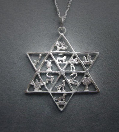Picture of #S136 Twelve Tribes Star of David