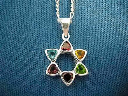 Picture of #S177 Multicolor CZ Hearts Star