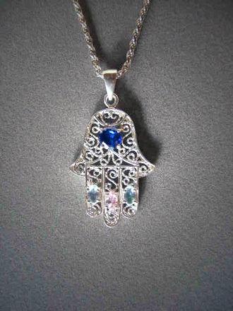 Picture of #S430 Bejeweled Filigree Hamsa