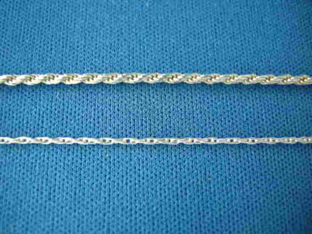 Picture of Sterling Silver D/C Rope 1.5mm Chain