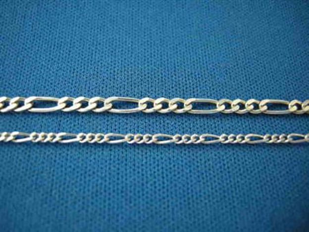 Picture of Sterling Silver Light Figaro Chain