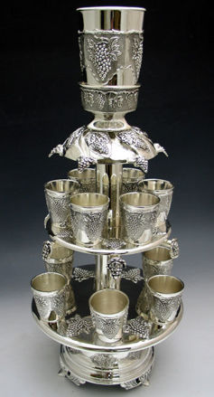 Picture of #816-F Silver Plated 2 tier Wine Fountain