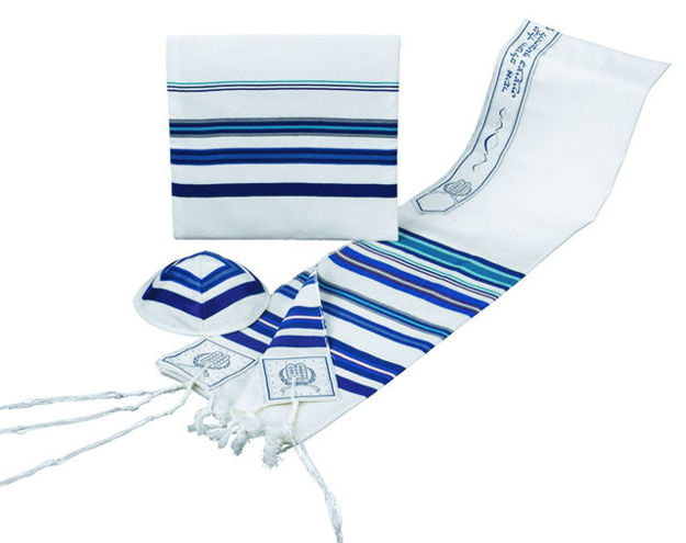 Picture of Blue Bnai Or Tallis