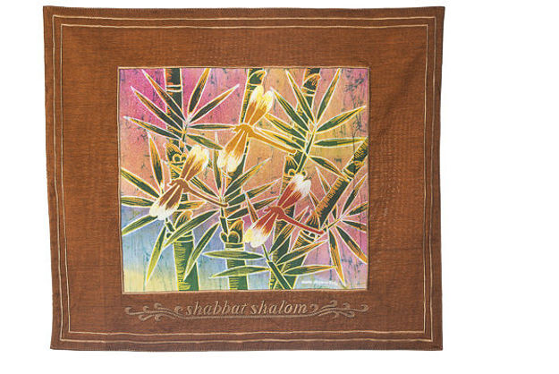 Picture of #602-R-E Challah Cover Dragonfly Rust English
