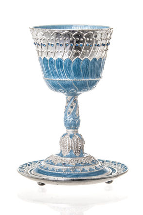 Picture of #652 Capri Cup and Tray Jeweled Kiddush Cup