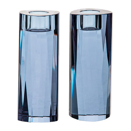 Picture of Blue Crystal Candle sticks