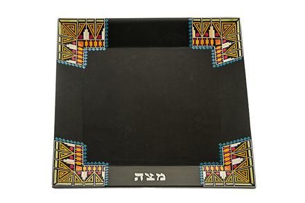 Picture of #C091-D Pharonic Matzah Plate dark
