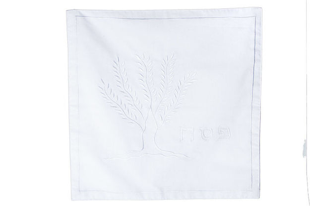 Picture of #607-WH Matzah Cover Tree of Life White