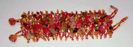 Picture of #B601-02 Gemstone and Glass Bead Bracelet
