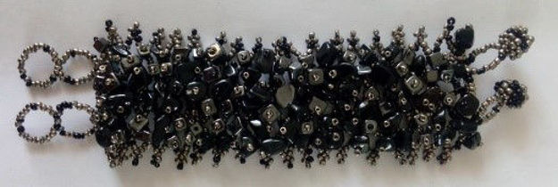 Picture of #B601-04 Gemstone and Glass Bead Bracelet