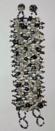 Picture of #B601-06 Gemstone and Glass Bead Bracelet