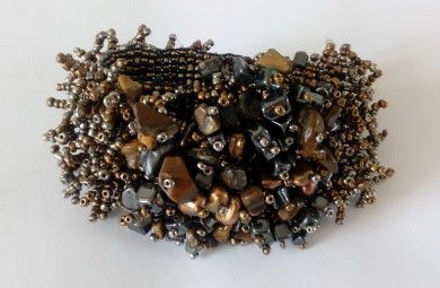 Picture of #B602-08 Gemstone and Glass Bead Bracelet