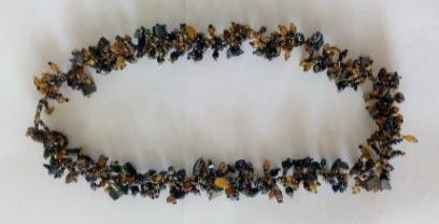 Picture of #B603-01 Gemstone Glass Bead Necklace