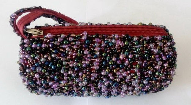 Picture of #B604-07 Cylinder Beaded purse small