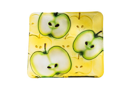 Picture of #827-C Glass Plate Square Apple