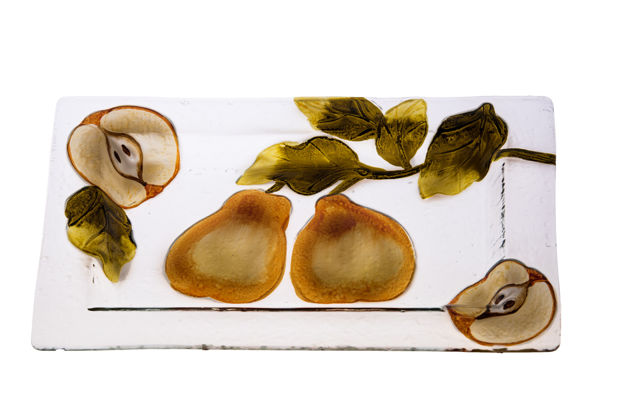 Picture of #828-A Glass Platter Pear