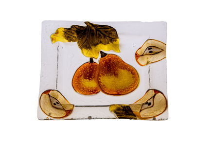 Picture of #828-C Glass Plate Square Pear