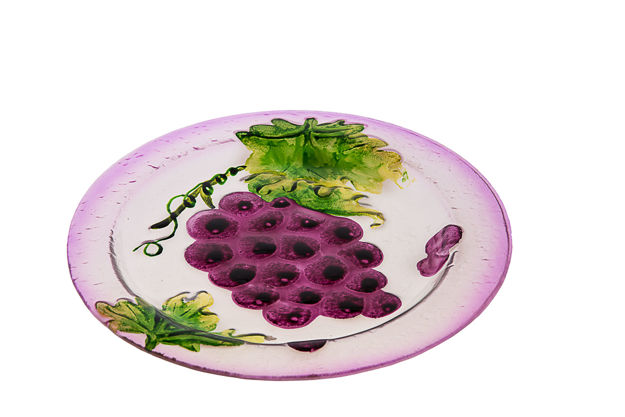 Picture of #829-B Glass Plate Round Grape