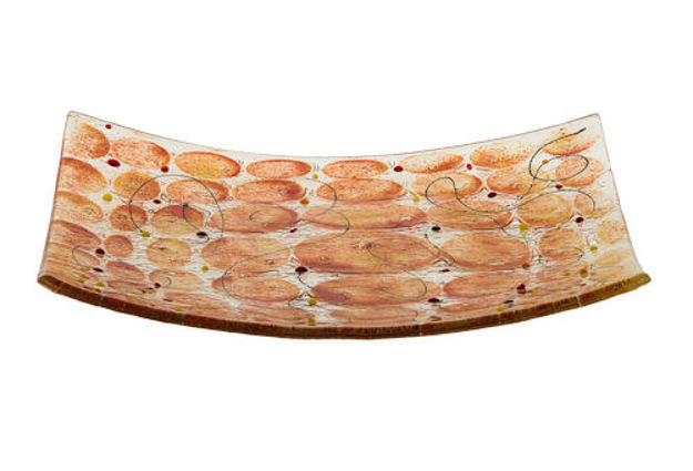 Picture of C832-M Amber/Citron Matzah Plate Glass