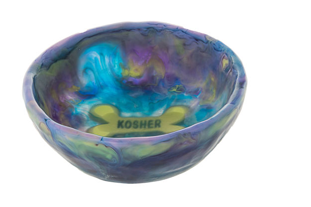 Picture of #965-B Dog Bowl Blueberry, lavender, lime
