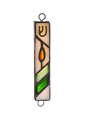 Picture of #121 Stained Glass Brown/Green and Tan