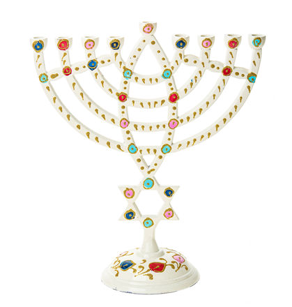 Picture of #250 White menorah with star