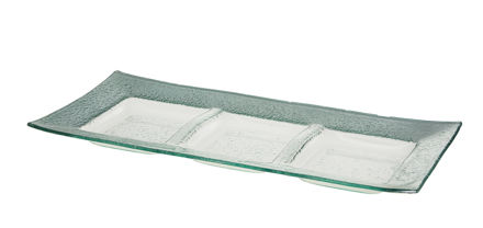Picture of #1208-S Silver Rectangular Tray with 3 sectionals