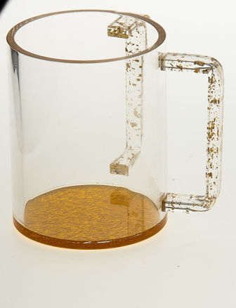 Picture of #7071-G Wash Cup Gold Lucite