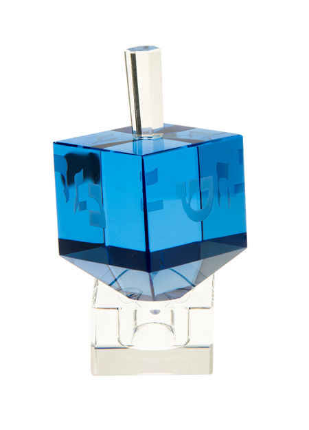 Picture of #505-B Classic Crystal Dreidel Blue