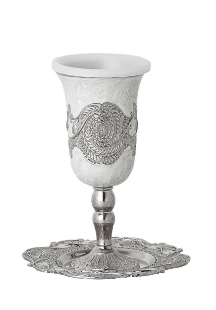 Picture of #820 Cup on base Enamel with tray