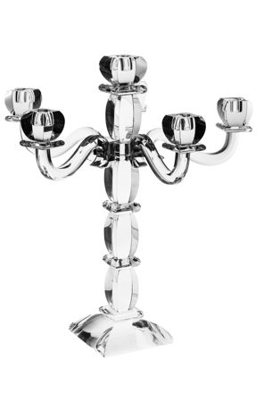 Picture of #16426 Candelabra Crystal  Silver 6 Branches