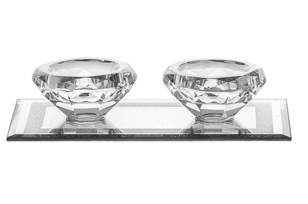 Picture of Candle Stick Crystal and Silver for Tealight