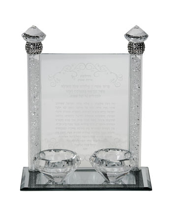 Picture of Crystal & Stone Candlestick for Tea light candles