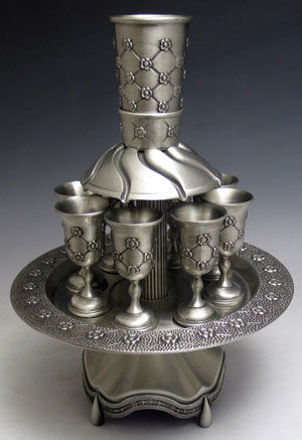 Picture of #4790-K Pewter Fountain 8 cup  X Design