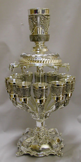 Picture of #712 Silver Plated 12 cup Wine Fountain