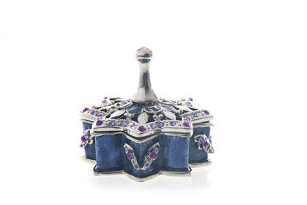 Picture of #7025 Dreidel Blue Jeweled Enamel