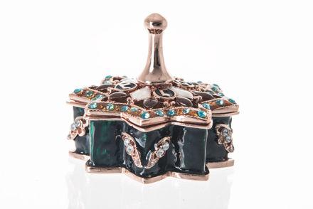 Picture of #7026 Dreidel Blue Jeweled Enamel