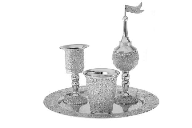 Picture of #4215 Havdallah Set Silver plated