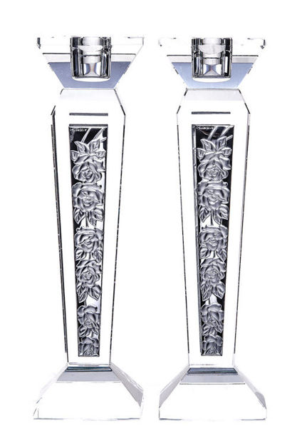 Picture of Crystal & Sterling Candlestick