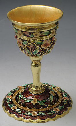 Picture of #6303 Kiddush Cups Jeweled
