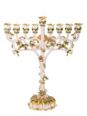 Picture of #6086 Jeweled Menorah Multicolor