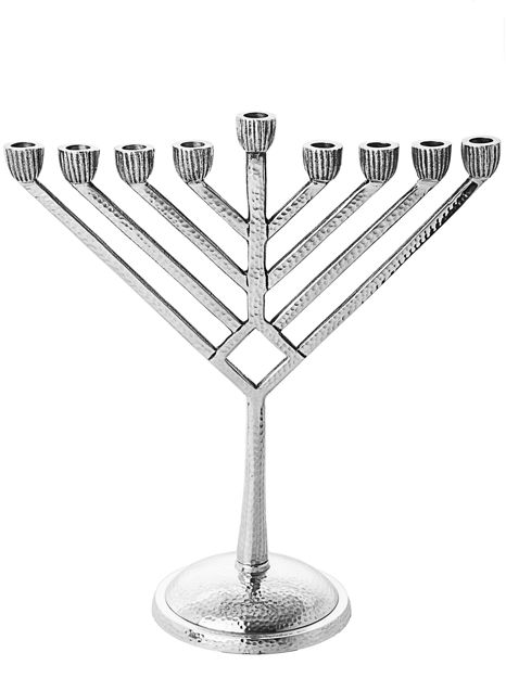 Picture of #2240 Stainless Steel Hammered Menorah